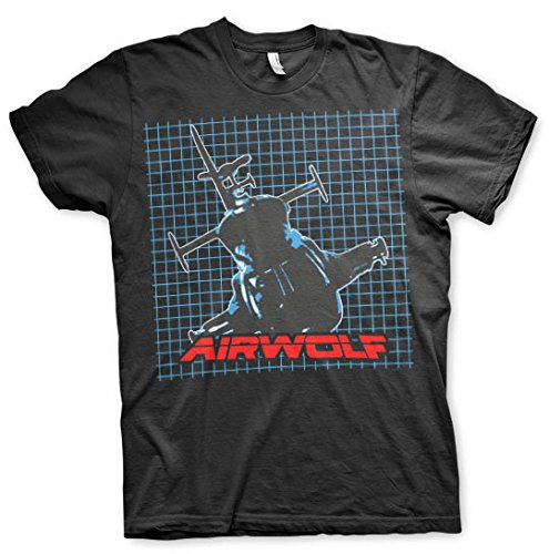 Officially Licensed Airwolf 80s T-shirt - S to XXL