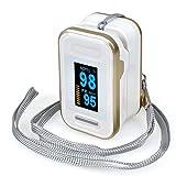 YB-DD Impulso con Trasporto Cordino, accurata Sp02 Pulsossimetro Wireless Digitale Dita Pulsossimetro cardiofrequenzimetro e l'attrezzo di Bellezza