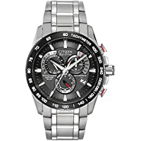 Citizen Men's Eco-Drive Chronograph Watch with Black Dial