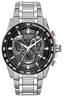 Citizen Men's Eco-Drive Chronograph Watch with Black Dial and Stainless Steel Bracelet AT4008-51E (B005BSEOXK) | Amazon Products