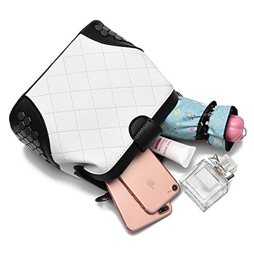Yoome frizione con pattini gotico Bag Crossbody Top Handle Tote borse eleganti per borsa donna borsa - rosa Rosso