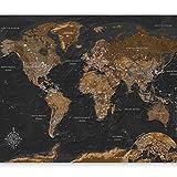 murando Fotomurales Mapamundi 150x105 cm XXL Papel pintado tejido no tejido Decoración de Pared decorativos Murales moderna de Diseno Fotográfico Mapa del Mondo k-a-0206-a-a