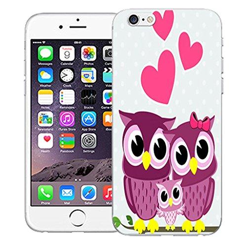 """Nouveau iPhone 6 4.7"""" inch clip on Dur Coque couverture case cover Pare-chocs - Rose skull vine Motif avec Stylet pink love owls"""