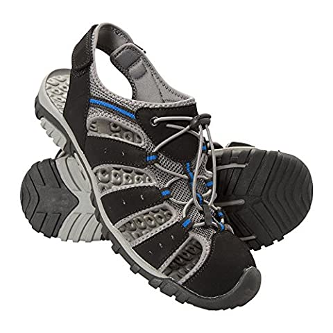 Mountain Warehouse Sandales Homme été Chaussures confort marche randonée Semelle EVA Trek Noir 44