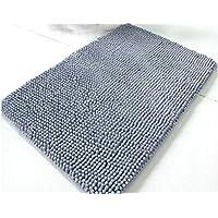 Alfombra blueqier antideslizante, lavable, suave, absorbente, para baño, dormitorio, sala de estar