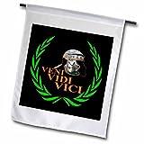 3dRose FL 270571_ 2römischen Helm, grün Laurel Wrath, Veni Garten Flagge, 45,7x 68,6cm