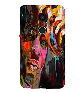 Fuson Colorful Boy Face Case Cover for LG Google Nexus 5X