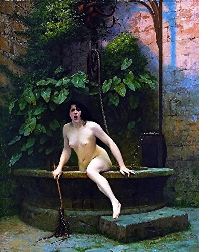 Truth Coming Out Of Her Well To Shame Mankind - By Jean-Léon Gérôme - Leinwanddrucke 16x20 Inch Ungerahmt (Jean Leon Gerome)