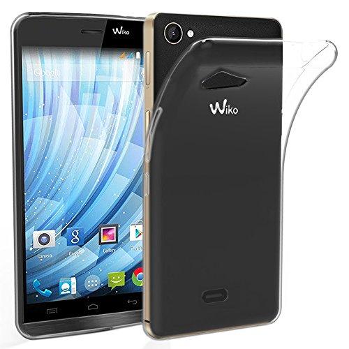 ebestStar - Wiko Getaway Hülle Handyhülle [Ultra Dünn], Premium Durchsichtige Klar TPU Schutzhülle, Soft Flex Silikon, Transparent [Phone: 143 x 69.5 x 7.2mm, 5.0'']