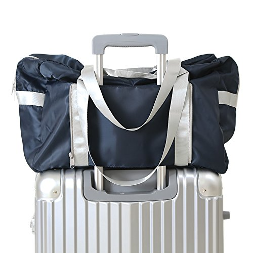 P. Reisen faltbar leicht groß Kapazität Reise Tasche Sport Duffle Befestigen kann am Griff von Koffer & Gepäck Navy