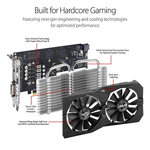 ASUS Carte Graphique ROG-STRIX-RX560-O4G-GAMING (OC Édition, AMD Radeon RX 560, 4Go Mémoire GDDR5) 8