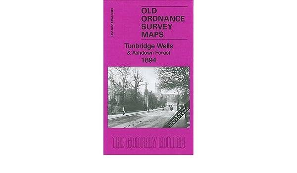 Old Ordnance Survey Maps Tunbridge Wells  /& Ashdown Forest 1894 /& Map Mayfield