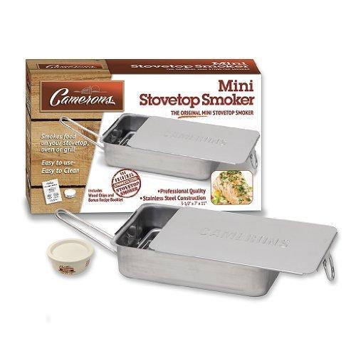 Preisvergleich Produktbild herd Raucher - Das Original Camerons Gourmet Mini Edelstahl Smoker mit Holz Chips - funktioniert über jeder Wärmequelle,  innen- oder von Camerons Produkte