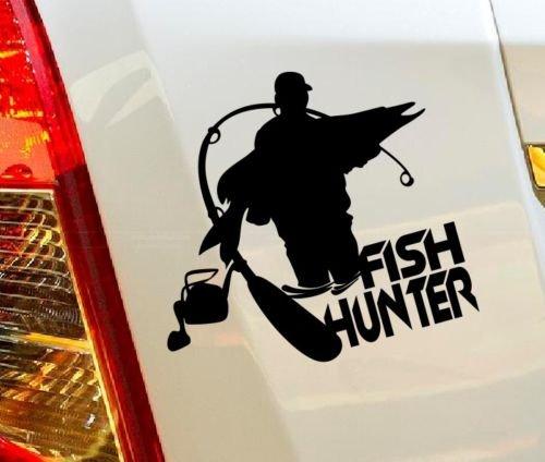 Cacciatore di pesce Rod Hunter Pesca Caccia Hobby, camion, auto drift Bumper finestra decalcomania da parete in vinile van Laptop Love Cuore Decor Casa Live Bambini divertenti adesivi Moto