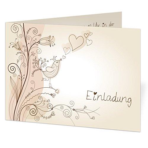 Individuelle Hochzeitseinladung (30 Stück) Liebesbaum Einladung Hochzeit Einladungskarte