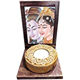 TYYC Diwali Pooja Puja Gift Items Shiv Parvati Idol Shiv Statue Tealight Candle Holder For Home - Set Of 1 | Diwali Corporate Gifts For Office, Employees, Clients, Staff