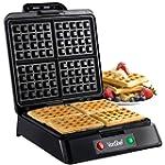 VonShef Quad Waffle Maker, 1200 Watt,...