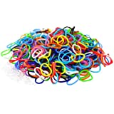 3000 Colourful LOOM BANDS & 125 Clips!