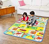 AMIGOS STORETM Double Sided Water Proof Baby Mat Carpet Baby Crawl Play Mat Kids Infant Crawling Play Mat Carpet Baby Gym Water Resistant Baby Play & Crawl Mat,Set of 1(Color and Design May Vary)