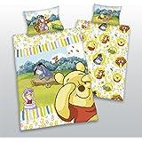 Winnie the Pooh con números Baby Cama linón de algodón de tamaño 100/135