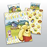 Winnie Pooh mit Zahlen Baby Bettwäsche Baumwolle- Linon Grösse 100/135