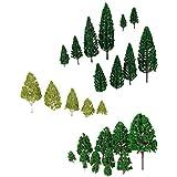 27 Stk. Modell Bäume Zug Eisenbahnen Architektur Kriegsspiel Landschaft Layout 3-16 cm