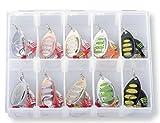 Savage Gear Rotex Spinner Set 6g / 8g - 10 Köder für Forellen, Barsch, Zander & Hecht, Angelköder, Forellenköder, Forellenspinner, Barschköder, Hechtköder, Zanderköder
