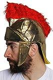 Un casque mou de romain couleur or avec une crête rouge digne d'un centurion. Ideal pour les enterrements de vie de garçon. ( X24 )