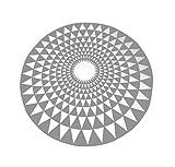 Moderner geometrischer Teppich runder Wohnzimmer Schlafzimmer Nachttisch Teppich (Farbe : Gray, größe : 120CM)
