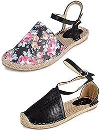 Wanderlust Women's Combo Pack Of 2 Designer Casual Synthetic Sandal