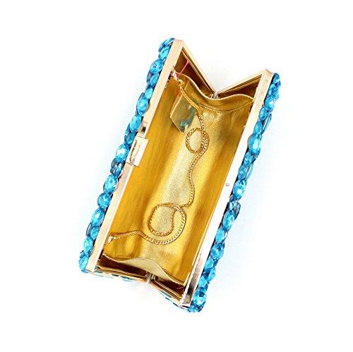 Meine Damen Taschen Luxus Party Abend Tasche mit Stickerei A