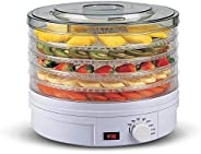 CHOSMO Electric Food Dehydrator Machine 5 Tray Tier Fruit Dryer Beef Jerky Herbs Dryer with Adjustable Thermos