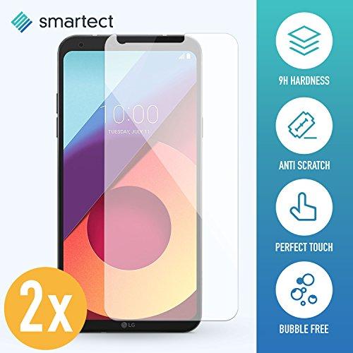 SmarTect 2X Protector de Pantalla de Cristal Templado para LG Q6 Lámina Protectora Ultrafina de 0,3mm | Vidrio Robusto con Dureza 9H y Antihuellas Dactilares