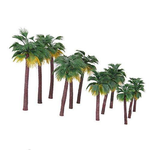 Sharplace 12er-Set 1:65 - 1: 150 Palmen Baum Modell 16cm 13cm 10cm 8,5 cm für Modelleisenbahnlandschaft,