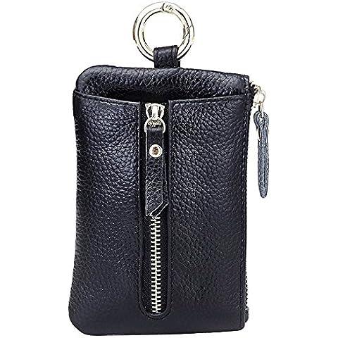 Nawoshow delle donne in pelle chiave caso cerniera della moneta della carta della borsa del portafoglio titolare