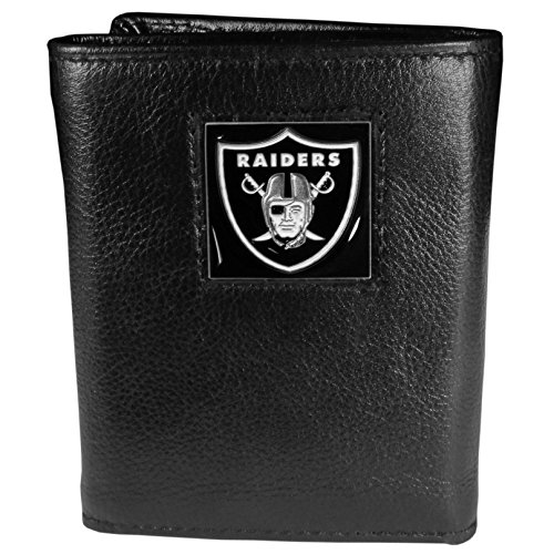 (Siskiyou Gifts Co, Inc. NFL Oakland Raiders Genuine Leder Tri-Fold Wallet)