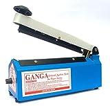 #10: Electrobot Impulse Sealer- Manual Plastic Bag Heat Seal Machine Closer Kit Adjustable Time Portable with Replacement Element Grip and Teflon (8 Inch)