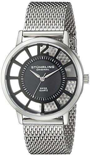 Stührling Original Reloj con movimiento cuarzo suizo Unisex Winchester Del Sol Elite Dress Symphony 40 mm
