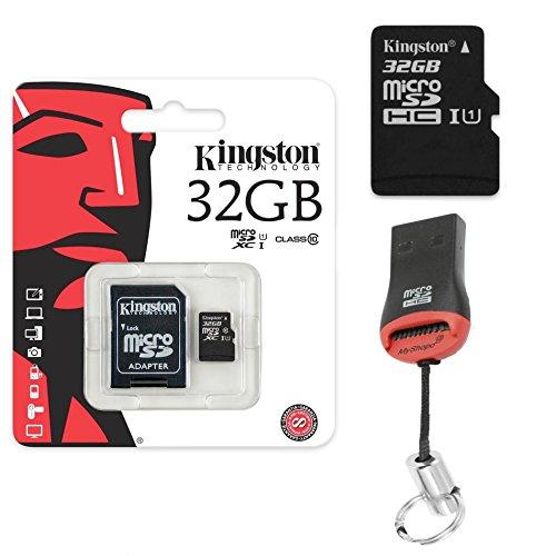 Original Kingston 32GB MicroSD Speicherkarte SDHC 32GB + KartenLeser Für Odys Cosmo Win X9