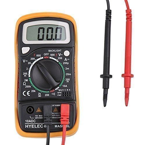 Preisvergleich Produktbild ccbetter Digital Multimeter Multi Tester Voltmeter Amperemeter Ohmmeter - AC / DC Spannung, DC Strom, Widerstand, Dioden, Transistor, Akustischer Durchgangsprüfer mit LCD Hintergrundbeleuchtung