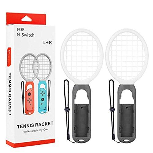 Preisvergleich Produktbild Mecotech Tennisschläger für Nintendo Switch 2 Stück Tennis Rackets Tennisschläger Joy-Con Zubehör für Nintendo Switch Spiele Mario Tennis Aces