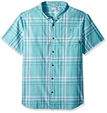 c5a00ba147e Columbia Men's Rapid Rivers Ii Big and Tall Short Sleeve Shirt, Teal Large  Plaid,