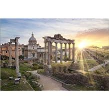 Impresión en metacrilato 120 x 80 cm: Sunset at the Roman Forum in Rome, Italy de Jan Christopher Becke