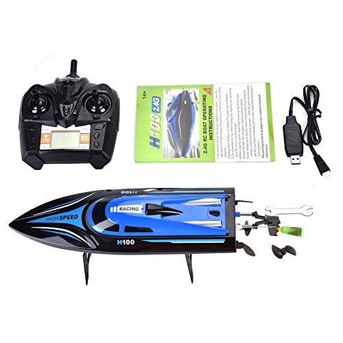 Cocoarm RC Boot Ferngesteuertes Boot 2,4 GHz 4 Kanal 25 km / h Schnelle Geschwindigkeit RC Boot für Pool & Outdoor Fernbedienung Spielzeug für Kinder