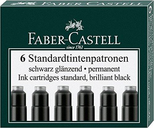 Faber-Castell Tintenpatronen Standard, 6 Stück in Faltschachtel (5 Packungen, schwarz)