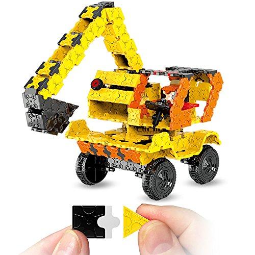 Camión de construcción FLATBLOCKS. Bloques de construcción que utiliza bloques planos para hacer un proyecto en 3D. Tiene 743 piezas, primer desafío: armarlo. Luego crear uno propio!