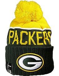 Packers de Green Bay Bonnet en tricot sous licence officielle Apparel New Era et NFL