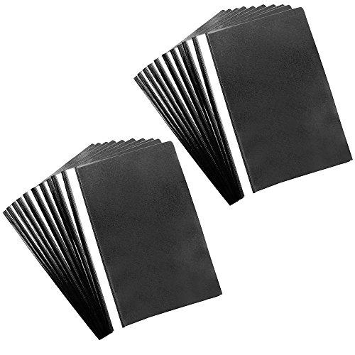COM-FOUR® 20x Schnellhefter Hefter DIN A4 mit Beschriftungsstreifen in schwarz (20 Stück - schwarz)