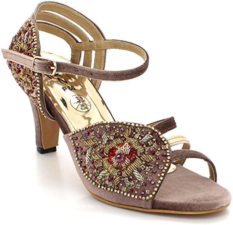 0d5f3e5dcc22 AARZ LONDON Womens Ladies Crystal Diamante Open Toe Evening Evening Evening Wedding  Party Bridal Prom Mid Heel Sandals Shoes Size B07FH7B6ZP Parent 80c5d4