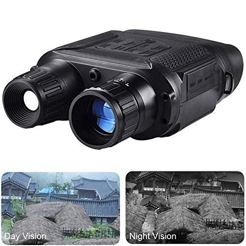 L.tsn Vision Nocturna Binocular Digital Infrarrojo Alcance - 1280x720p Cámara Fotográfica HD Grabadora De Vídeo, Ampliación 7X En La Oscuridad Ocular Ajustable, Black
